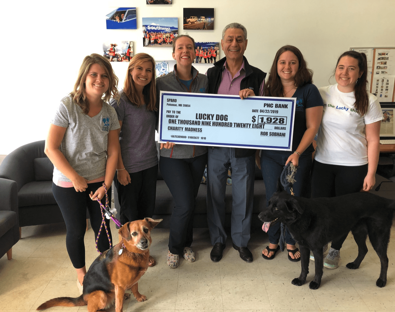 Sparo CEO Rob Sobhani with the team from Lucky Dog Animal Rescue - 2nd place winners in the first Sparo Charity Madness.